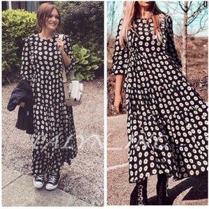 ❤️❤️ZARA FLORAL PRINT DRESS WITH RUFFLE